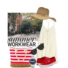 SummerWorkwear☀️ by svgsemma on Polyvore featuring polyvore, Mode, style, Current/Elliott, Superga, Armani Exchange and Billabong