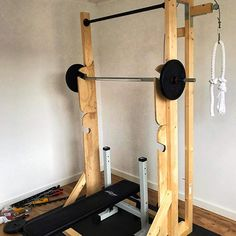 Home gym Fitness Home Gym Basement, Home Gym Garage, Gym Room At Home, Workout Room Home, Workout Rooms, Home Made Gym, Diy Home Gym, Crossfit Home Gym, Gym Fitness