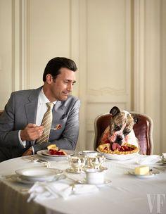 Gentleman and dog