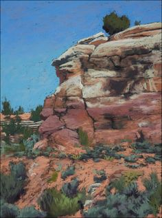 Paintings and More by Sonya Johnson: Painting in McElmo Canyon - plein air pastel