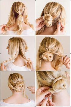peinados para cabello rizado con trenzas - Buscar con Google