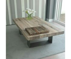 Chic White Wood Coffee Table design wood and metal coffee cable : wood and metal coffee table . Coffee Table Design, Solid Wood Coffee Table, Cool Coffee Tables, Coffe Table, Coffee Tables For Sectionals, Homemade Coffee Tables, Coffee Cups, Pallet Furniture, Furniture Projects