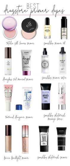 best drugstore primer dupes - best drugstore beauty dupes, drugstore dupes for h. - - best drugstore primer dupes - best drugstore beauty dupes, drugstore dupes for high end primers, primer dupes EyeLiner Tips Styles Tutorial 2019 EyeLi. Drugstore Makeup Dupes, Lipstick Dupes, Lipgloss, Elf Dupes, Eyeshadow Dupes, Skincare Dupes, Beauty Dupes, Beauty Makeup, Beauty Care