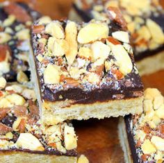 Inspired By eRecipeCards: Soft Chewy Toffee Almond Squares - 52 Cookie Recipes and Catering or Church Potluck Desserts