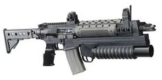 The LR-300 ML assault-rifle with the modified M203 underbarrel grenade launcher
