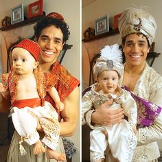 Awww! Aladdin Star Adam Jacobs & His Adorable Twins Celebrate an Arabian Nights…