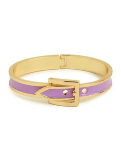 Form meets function to create this fun enamel bangle that boasts a working buckle closure as well as brightly colored enamel in our favorite 2013 Pantone colors of the year!