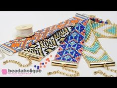 How to Make the Beaded Loom Bracelet Kits by Beadaholique - YouTube