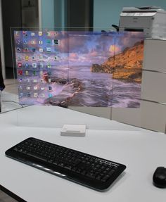 The next step in the digital personal computer design. How do they look ? The HTD-01 Concept is the first PC, which uses a mini LED projector.