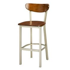 "Regal Bar Stool Seat Height: 24"", Upholstery: Natural Wood, Finish: Black"