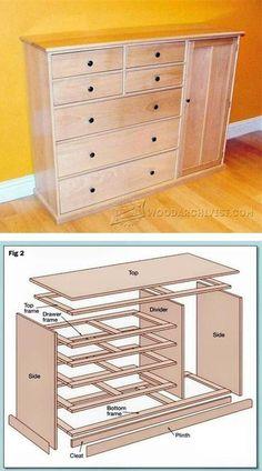 Dresser Plans - Furniture Plans and Projects | WoodArchivist.com