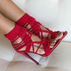 Privileged Lexie Woven Fabric Upper Heels