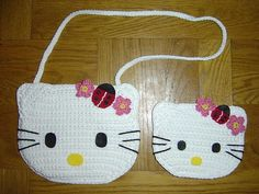 Crochet Hello Kitty Purse - no pattern, just picture for reference