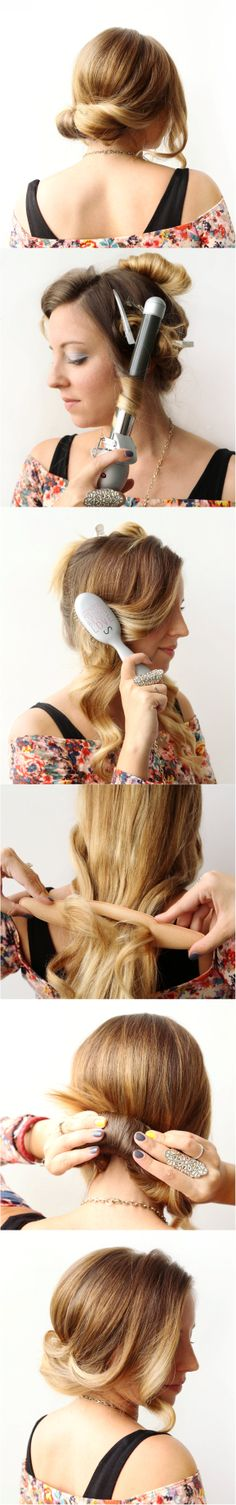 How To: Wrap and Roll Hair