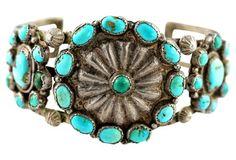 Rustic Navajo Turquoise Bracelet