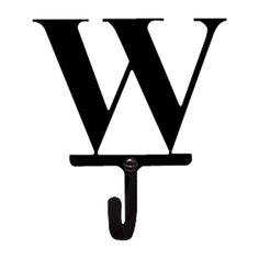 Letter W - Wall Hook Small