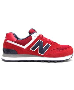 e4e5fd9141 NEW BALANCE 574 (RED NAVY GREY)