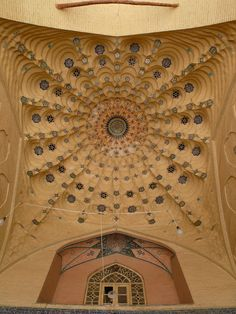 The ceiling of a vault at the Shah Sheragh shrine. shiraz