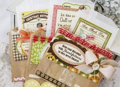 Paper Bag Gift Pouches...By:Melissa Phillips ...Source:lilybeanpaperie