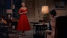 Dial M for Murder by Alfred Hitchcock, starring Ray Milland, Grace Kelly, Robert Cummings and John Williams Retro Fashion, Vintage Fashion, Formal Fashion, Dial M For Murder, Vintage Red Dress, Vintage Style, Crime, Grace Kelly Style, Red Velvet Dress