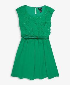 Floral Applique Dress | FOREVER21 girls - 2025100913