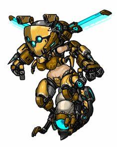 Hornet (Detail up) by MuHut on DeviantArt Female Character Design, Character Concept, Character Art, Monster Design, Monster Art, Robot Animal, Darkest Dungeon, Robot Girl, Monster Musume