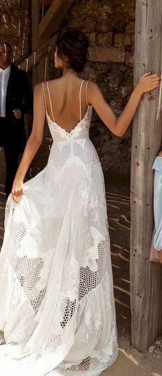 Gorgeous 99 Gorgeous Backless Wedding Dresses Ideas https://bitecloth.com/2017/09/04/99-gorgeous-backless-wedding-dresses-ideas/
