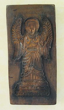 Wooden Angel .... Springerle cookie mold