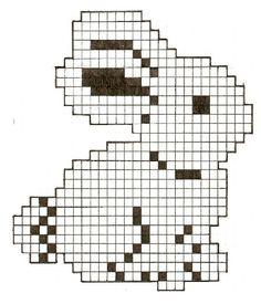 Bunny Hama Perler Bead Pattern