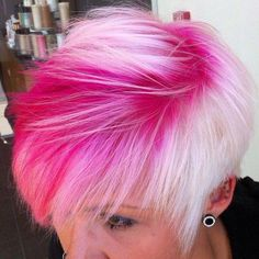 Mario Tricoci: Chicago's leading cut, color, skin and spa services Pink Grey Hair, Hair Color Purple, Hair Color And Cut, Cool Hair Color, Long Black Hair, Long Curly Hair, Curly Hair Styles, Bright Hair Colors, Colourful Hair