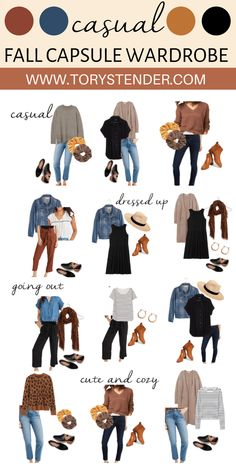 FALL CAPSULE WARDROBE 2020 - Tory Stender Trendy Fall Outfits, Fall Fashion Outfits, Fall Winter Outfits, Cute Casual Outfits, Look Fashion, Fall Fashion Trends, Early Fall Outfits, Fall Casual Dresses, Fall Dress Outfits