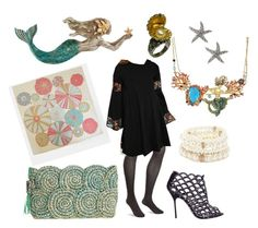 """""""In an octopuses garden in the shade"""" by kjmazeltov ❤ liked on Polyvore featuring Les Néréides, Merona, ASOS, Forever 21, Russell Lownsbrough, Sergio Rossi and Flora Bella"""