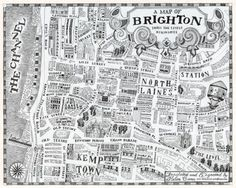 Psychogeography of my home city.  Prints can now be found at Unlimited Edition gallery in Brighton.