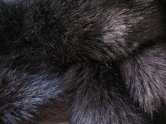 Tissavel Bear Mink Charcoal Woven Faux Fur by WilhelminaJacobsLA, $29.99