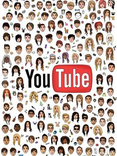Found this on tumblr. It's the big youtube family. Although I don't know half of these people, and they didn't include people that work in teams really. Like Wong Fu Productions or SourceFed. Still pretty cool.