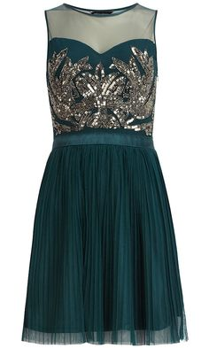 Dorothy Perkins Teal Embellished Prom Dress, £65