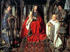 JAN VAN EYCK (1395 -1441) - The Madonna with Canon van der Paele - 1436. Groeningemuseum, Bruges, Belgium.