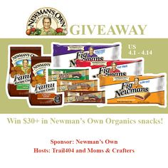 Newman's Own Organics Snacks for Grabs Giveaway