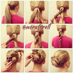.@braidphotos | Awesome rope braid bun tutorial by @noraforell . 1-3. Make a ponytail and ... | Webstagram - the best Instagram viewer