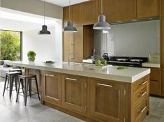 Blending contemporary flush Oak cabinetry with traditional furniture. Wine Cabinets, Oak Cabinets, Custom Made Furniture, Furniture Making, Kitchens And Bedrooms, Home Kitchens, Shaker Kitchen, Casement Windows, Oak Doors