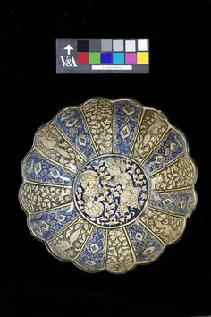 Bowl      Place of origin:      Iran (made)     Date:      1260-1350 (made)     Artist/Maker:      Unknown (production)     Materials and Techniques:      Fritware with underglaze painting     Museum number:      C.10-1960     Gallery location:      Islamic Middle East, room 42, case 3 V