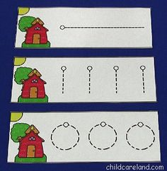 School House Pre-Writing Cards - Pinned by @PediaStaff. - Please Visit http://ht.ly/63sNt for all our pediatric therapy pins