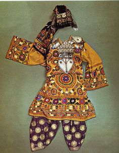 Traditional womans costume Turkmenistan.