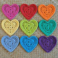Granny Heart Coaster N Motif