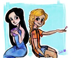 keepfeedingthebears:  cuz reyna was one of the girls that did annabeth's hair and makeup, right?