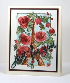 Roses in Paris card by Heather Telford