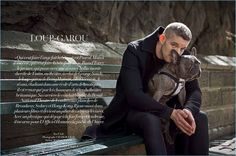 Russell Tovey & His French Bulldog Charm in L'Officiel Hommes Levant Shoot