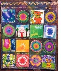 "Collaborative art - paper ""quilt"""