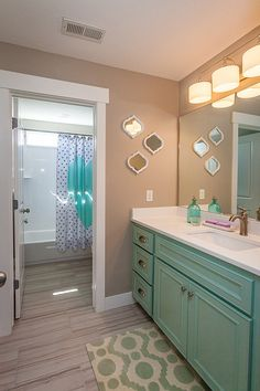 Splash of color Parade Of Homes, Bathroom Layout, Color Splash, Future, Mirror, Basement, Bathrooms, Kitchens, House