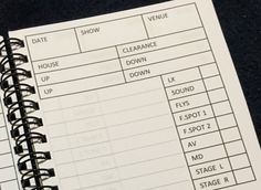 The Show Report Scribbler ~ Stage Management Stationery for Stage Management, Stage Managers, DSMs, Backstage Techies and all Theatre Folk